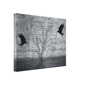 Poe Beyond the Grave Stretched Canvas Prints