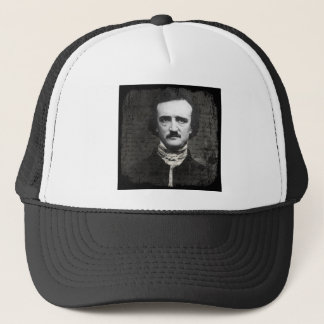 Poe Black and White Grunge Trucker Hat