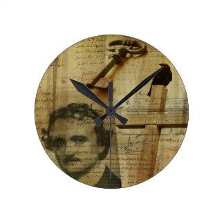 Poe Collage Wallclock