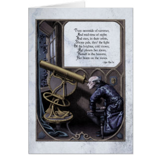 "Poe ""Evening Star"" Steampunk Victorian Art Card"