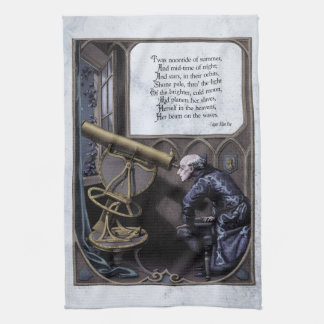 "Poe ""Evening Star"" Victorian Tea Towel"
