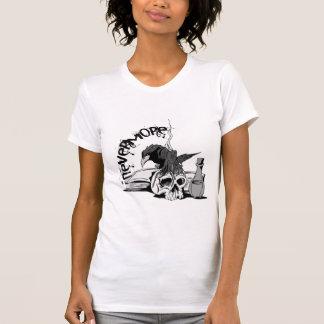 Poe Nevermore Raven Skull Book T-shirts