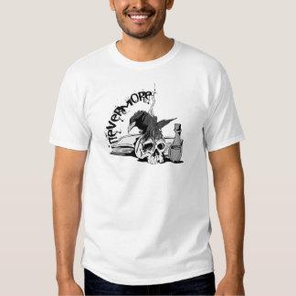 Poe Nevermore Raven Skull & Book Tee Shirt