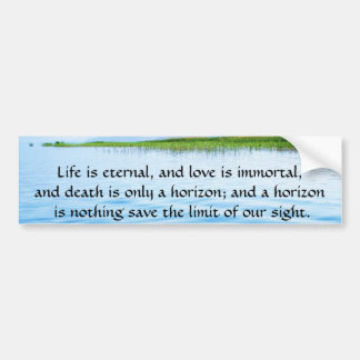Poem About Death -  Inspirational Grieving Quote Car Bumper Sticker