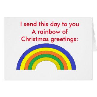 "Poem: ""Christmas Rainbow"" Greeting Card"