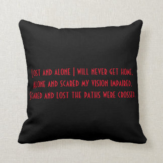 Poem cushion