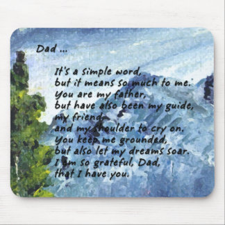 Poem for Dad Mouse Mat