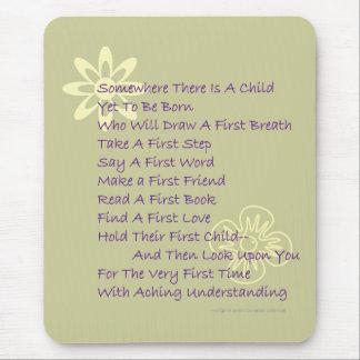 Poem for New Parents Mousepad