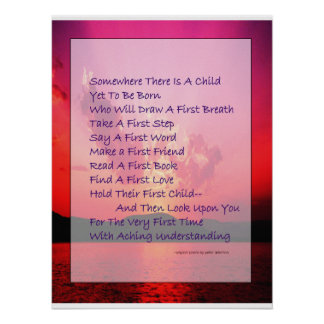 Poem for New Parents Poetry Poster