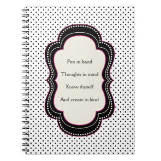 Poem for Writers Polka Dot Note Book