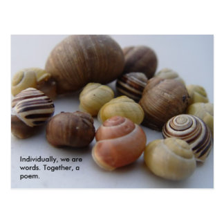 poem, Individually, we are words. Together, a p... Postcard