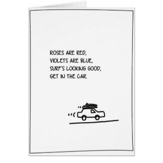 'Poem' - Surfing Valentine's Card