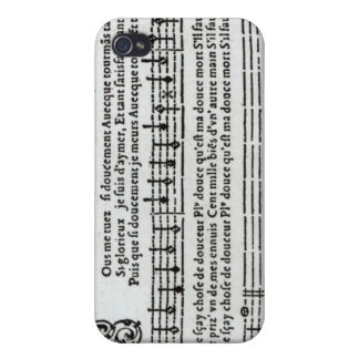 Poem to music by Jean Antoine de Baif iPhone 4/4S Cover