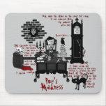 'Poe's Madness' (Version 2) Mousepad