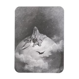 Poe's Raven Dreaming Dreams Print Magnet
