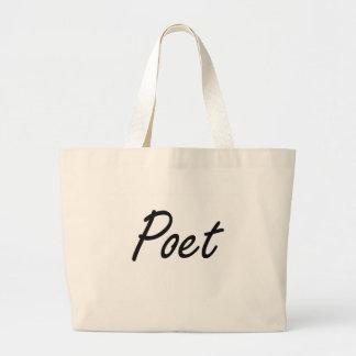 Poet Artistic Job Design Jumbo Tote Bag