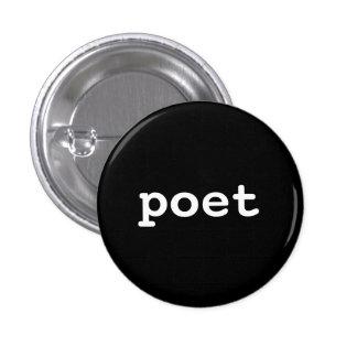 poet 3 cm round badge