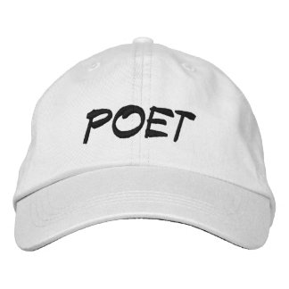 POET EMBROIDERED HATS