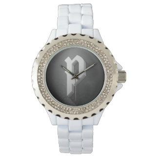 Poet Gaming Wrist Watch (Unisex)(White,Diamond)