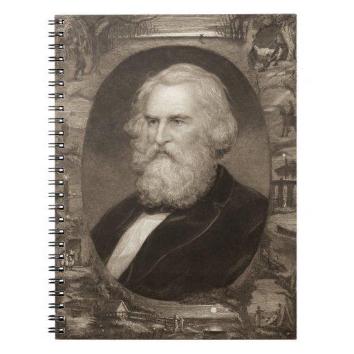 Poet Henry Longfellow 1881 Spiral Note Books