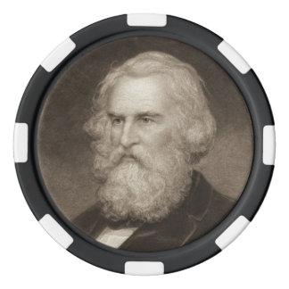 Poet Henry Longfellow 1881 Poker Chip Set