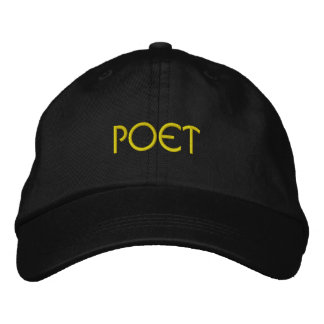 POET Literary Lover Cap Embroidered Baseball Cap