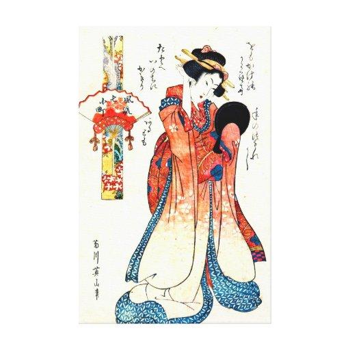 Poet Ono no Komachi 1804 Gallery Wrap Canvas
