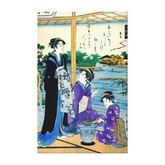 Poet Otomo Kuronushi 1795 Canvas Print