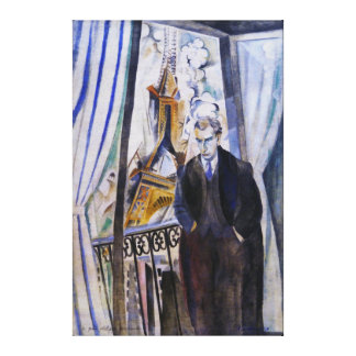 Poet Philip Soupault by Robert Delaunay Gallery Wrap Canvas
