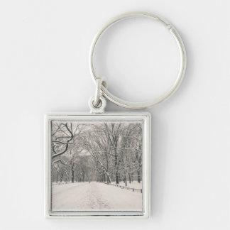 Poet s Walk - Central Park Winter Keychain