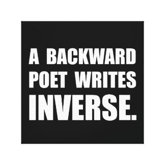 Poet Writes Inverse Stretched Canvas Prints