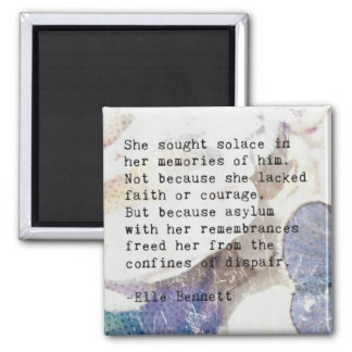 Poetic Expressions:Solace Square Magnet