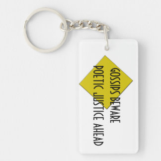 POETIC JUSTICE KEYCHAIN
