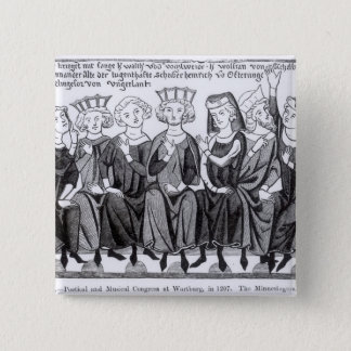Poetical and Musical Congress 15 Cm Square Badge