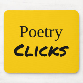 """Poetry Clicks"" Mousepad"