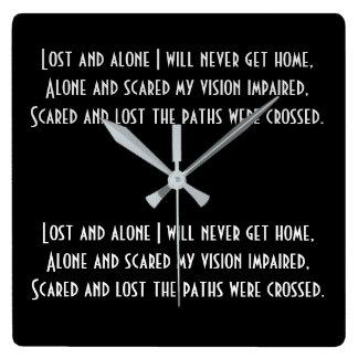 Poetry clock