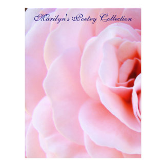 Poetry Collection Paper Pink Rose Flower Spiral Custom Flyer