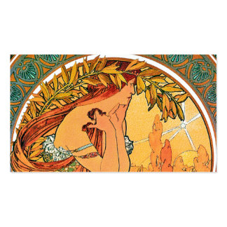 """Poetry from the series """"The Arts"""" by Mucha Pack Of Standard Business Cards"""