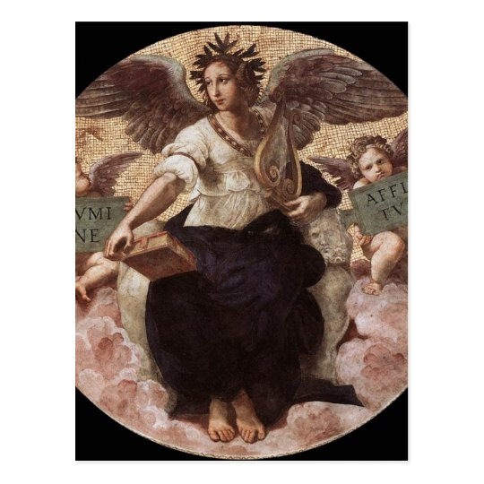 Poetry, from the 'Stanza della Segnatura' Raphael Postcard