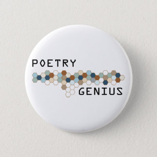 Poetry Genius 6 Cm Round Badge