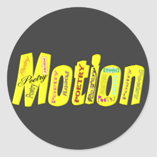 Poetry in Motion Classic Round Sticker