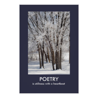 Poetry is Stillness Photo Poster