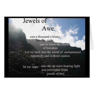 poetry - Jewels of Awe card