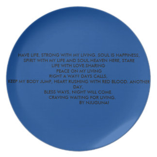 poetry plate