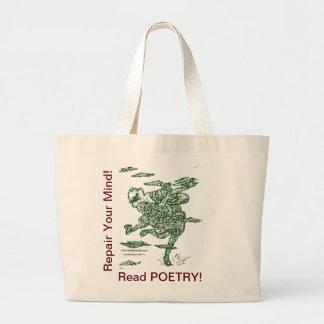 Poetry Repairs Dancing Man Jumbo Tote Bag