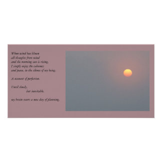Poetry - Rising Sun Photo Greeting Card