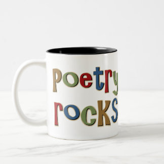 Poetry Rocks Two-Tone Coffee Mug