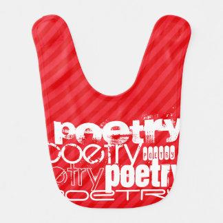 Poetry; Scarlet Red Stripes Bibs