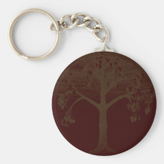 Poetry Tree Art Basic Round Button Key Ring