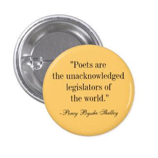 Poets 3 Cm Round Badge